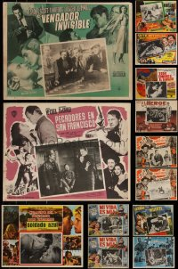 7s0028 LOT OF 21 MEXICAN LOBBY CARDS 1940s-1960s cool scenes from a variety of different movies!