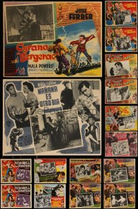 7s0029 LOT OF 20 MEXICAN LOBBY CARDS 1940s-1960s cool scenes from a variety of different movies!
