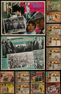 7s0031 LOT OF 18 MEXICAN LOBBY CARDS 1940s-1980s great scenes from a variety of different movies!