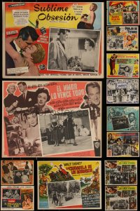 7s0032 LOT OF 17 MEXICAN LOBBY CARDS 1940s-1960s great scenes from a variety of different movies!