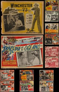 7s0033 LOT OF 16 MEXICAN LOBBY CARDS 1950s-1960s great scenes from a variety of different movies!