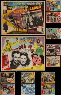 7s0034 LOT OF 15 MEXICAN LOBBY CARDS 1950s-1960s great scenes from a variety of different movies!
