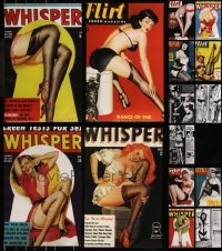7s0022 LOT OF 15 UNFOLDED FLIRT, WHISPER, AND OTHER GIRLY MAGAZINE REPRODUCTION COVERS ANDPAGES 2000s