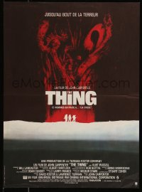 7t0358 THING French 14x20 1982 John Carpenter, cool different art of alien terror!