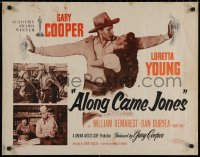 7t0375 ALONG CAME JONES 1/2sh R1953 western cowboy Gary Cooper with sexy Loretta Young!