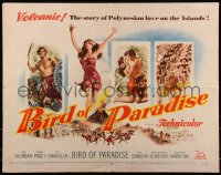 7t0379 BIRD OF PARADISE 1/2sh 1951 art of barechested Louis Jourdan & tropical sexy Debra Paget!