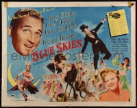 7t0380 BLUE SKIES style A 1/2sh 1946 Fred Astaire, Bing Crosby, Joan Caulfield, Irving Berlin
