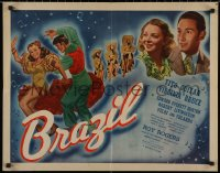 7t0381 BRAZIL 1/2sh 1944 Tito Guizar & Virginia Bruce in a glorious Pan-American musical romance!