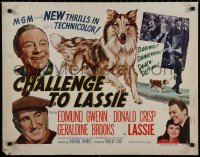 7t0385 CHALLENGE TO LASSIE style B 1/2sh 1949 classic canine Collie is wanted by the law, wacky image!