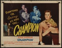 7t0386 CHAMPION style A 1/2sh 1949 boxer Kirk Douglas with Marilyn Maxwell, boxing classic!