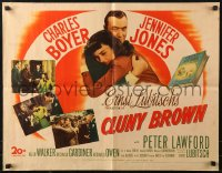 7t0388 CLUNY BROWN 1/2sh 1946 Charles Boyer, Jennifer Jones, Lawford, directed by Ernst Lubitsch!