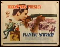 7t0404 FLAMING STAR 1/2sh 1960 Elvis Presley playing guitar & close up with rifle, Barbara Eden!