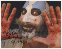 7w1043 SID HAIG signed color 8x10 REPRO still 2000s as Captain Spaulding in The Devil's Rejects!