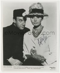 7w1044 SOPHIA LOREN signed 8x10 REPRO still 1980s portrait with Peter Sellers in The Millionairess!