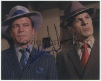 7w1048 STAR TREK signed color 8x10 REPRO still 1968 by BOTH Leonard Nimoy AND William Shatner!