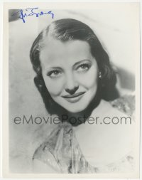 7w1051 SYLVIA SIDNEY signed 8x10 REPRO still 1980s smiling portrait of the beautiful leading lady!
