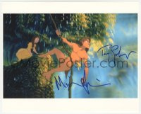 7w1053 TARZAN signed color 8x10 REPRO still 2000s by BOTH Tony Goldwyn AND Minnie Driver, Disney!