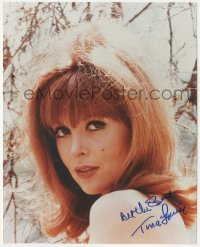 7w1058 TINA LOUISE signed color 8x10 REPRO still 2000s close up of sexy Ginger of Gilligan's Island!