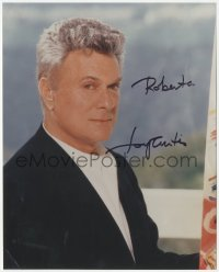7w1060 TONY CURTIS signed color 8x10 REPRO still 2000s great portrait during his career as a painter!