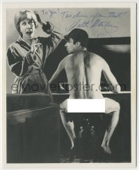 7w1063 WALTER MATTHAU/CAROL BURNETT signed deluxe 8x9.75 REPRO still 1980s he's playing piano naked!