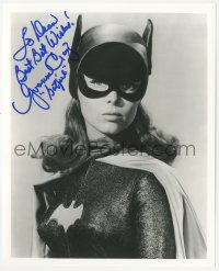 7w1065 YVONNE CRAIG signed 8x10 REPRO still 1980s best close portrait in costume as Batgirl!