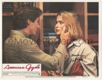 7w0085 AMERICAN GIGOLO signed LC #3 1980 by Lauren Hutton, c/u with male prostitute Richard Gere!