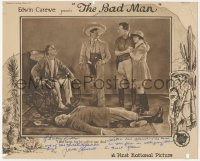 7w0089 BAD MAN signed LC 1923 by Jack Mulhall, who's with bandit & others standing over dead guy!