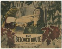 7w0091 BELOVED BRUTE signed LC 1924 by Victor McLaglen, who's not pictured on this card!