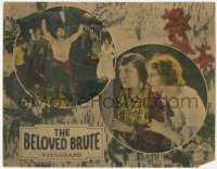 7w0090 BELOVED BRUTE signed LC 1924 by Victor McLaglen, who's holding another man over his head!