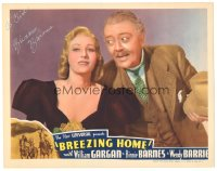 7w0093 BREEZING HOME signed LC 1937 by Binnie Barnes, who's with Raymond Walburn!
