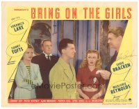 7w0094 BRING ON THE GIRLS signed LC #5 1944 by Eddie Bracken, who's with Veronica Lake & Sonny Tufts!