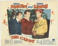 7w0096 CADDY signed LC #6 1953 by Jerry Lewis, who's with Dean Martin & real golfer Julius Boros!