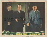 7w0098 CHINESE CAT signed LC 1944 by I. Stanford Jolley, he's ambushing Sidney Toler as Charlie Chan!