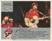 7w0102 DIE LAUGHING signed LC #6 1980 by Robby Benson, who's performing with guitar on stage!