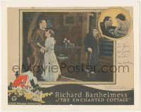 7w0104 ENCHANTED COTTAGE signed LC 1924 by May McAvoy, who's with Richard Barthelmess & another man!