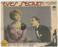 7w0105 EVE'S SECRET signed LC 1925 by Betty Compson, who's close up with William Collier Jr.!