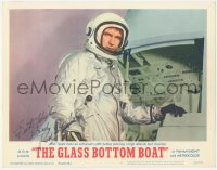 7w0106 GLASS BOTTOM BOAT signed LC #6 1966 by Rod Taylor, who's in astronaut outfit in test chamber!