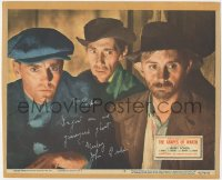7w0107 GRAPES OF WRATH signed LC #2 R1940 by John Qualen, close up with Henry Fonda & John Carradine!