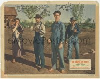 7w0108 GRAPES OF WRATH signed LC #8 R1947 by John Qualen, refusing to leave his farm, John Ford!