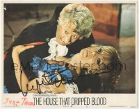 7w0110 HOUSE THAT DRIPPED BLOOD signed LC #6 1971 by Ingrid Pitt, close up attacked by vampire!