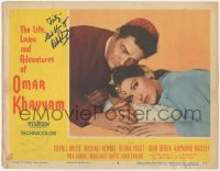 7w0111 LIFE, LOVES & ADVENTURES OF OMAR KHAYYAM signed LC #8 1957 by Debra Paget, who's w/Wilde!