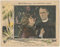 7w0117 MARRIAGE CHEAT signed LC 1924 by Leatrice Joy, who can't give up priest Percy Marmont, rare!