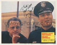 7w0120 NEW CENTURIONS signed LC #8 1972 by Stacy Keach, who's close up with George C. Scott!