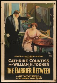 7x0002 AVALANCHE 1sh 1915 Catherine Countiss tries to steal husband but plan backfires, ultra rare!
