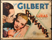 7x0018 DOWNSTAIRS 1/2sh 1932 John Gilbert & Virginia Bruce as evil English chauffeur & seduced maid!