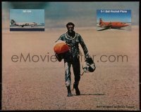 7x0033 RIGHT STUFF color 16x20 still 1984 Sam Shepard as Yeager walking away from NF-104A crash, X-1!