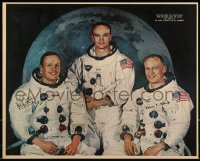 7x0036 APOLLO 11 16x20 special poster 1969 portrait of Armstrong Aldrin, Collins, NASA moon landing!