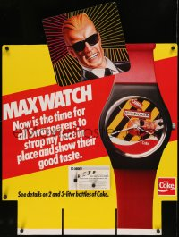 7x0008 COCA-COLA 27x36 advertising poster 1980s advertising the Max Headroom watch, now is the time!