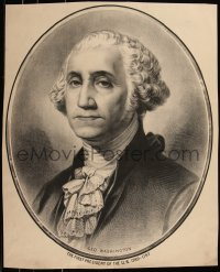 7x0027 GEORGE WASHINGTON 20x25 art print 1890s cool close-up portrait of the first President!