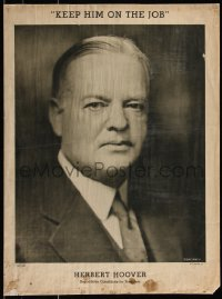 7x0040 HERBERT HOOVER 16x21 political campaign 1932 cool Bachrach portrait, keep him on the job!